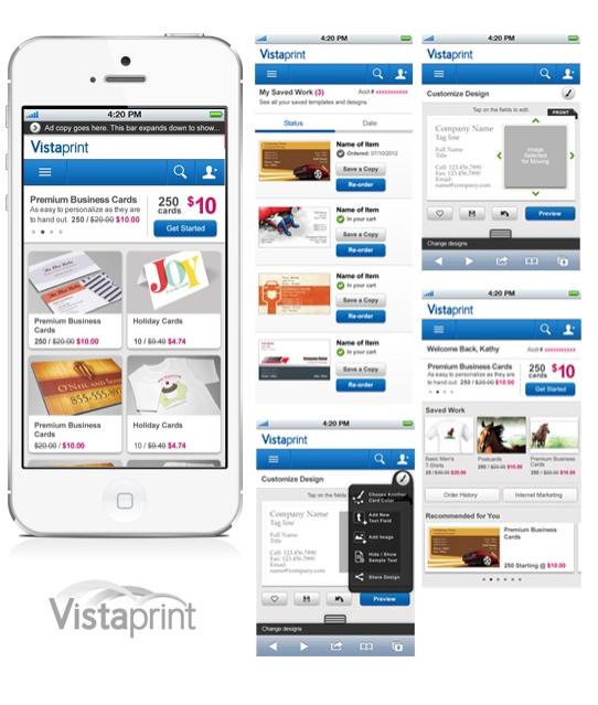 Vistaprint app / Staples preferred customers